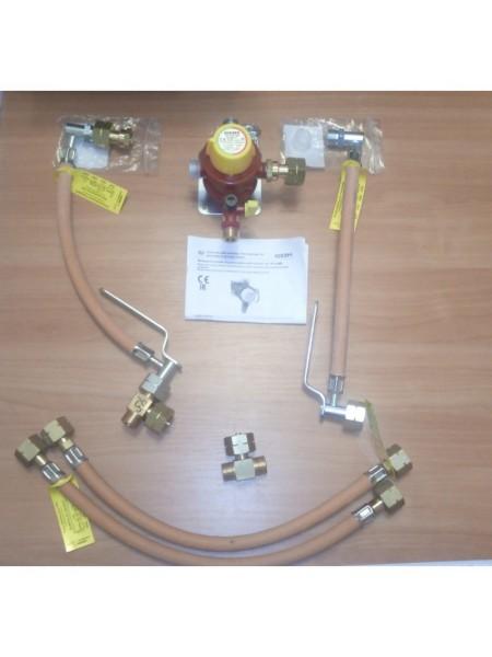 Рампа пропанова на 4 балона 4 кг/год 50 мбар (Робочий та резервний), комплект