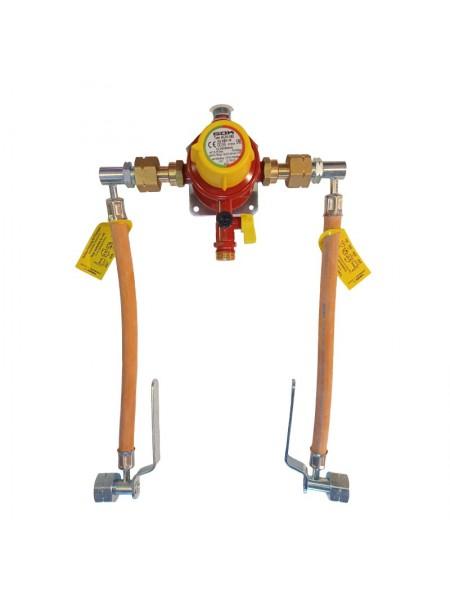 Газобалонка на 2 балона 4 кг/год 29 мбар (автоматична робочий та резервний), комплект