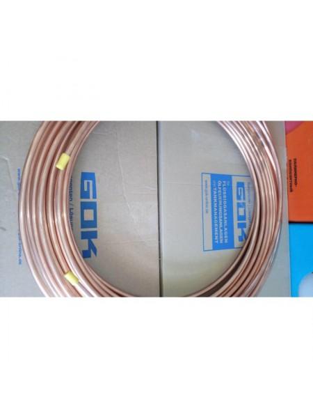 Труба мідна комплектувальна діаметр 8 мм товщина стінки 1 мм