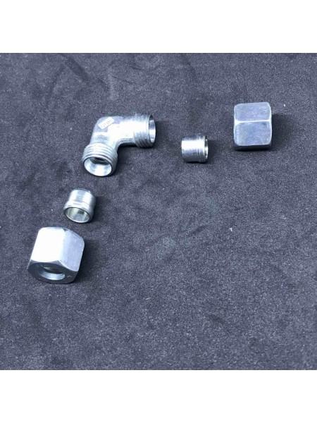 Кут з'єднувальний газ W-RVS8 x RVS8 W NW 06 HL