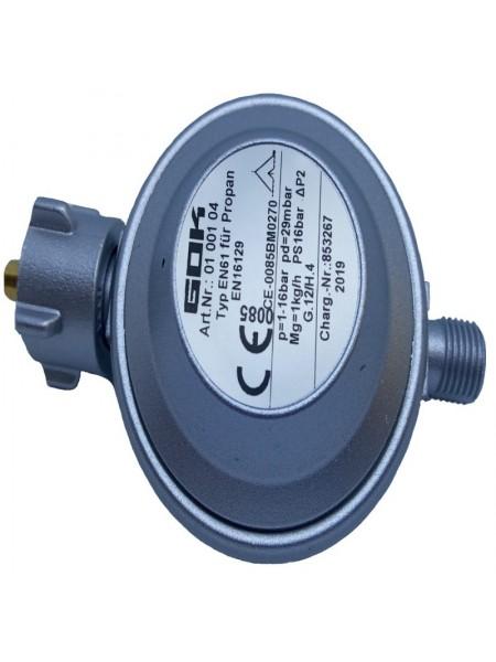 Газовий регулятор низького тиску GOK EN61 1кг/год 29 (30) мбар KLFxG1/4LH-KN