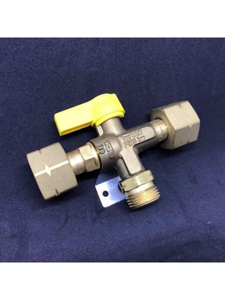 Кран шаровий запірний Gas MUV PS 16bar GF*AG GF*GF