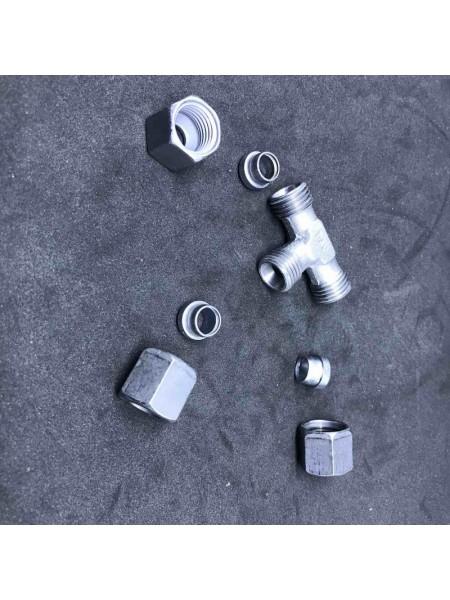 Т-подібний RVS8 mm * RVS8 mm зєднання труб діаметром 8мм