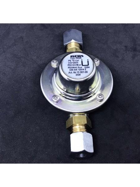 Регулятор тиску палива ODR до 20 л/год 100 мбар RVS8 Ман.