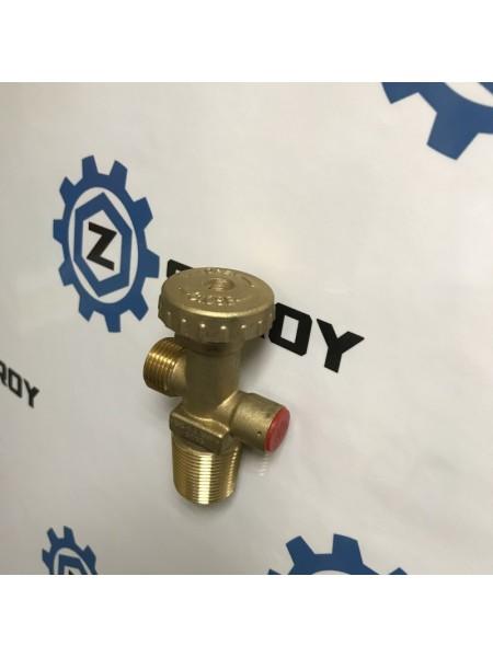 Вентиль газовий балонний з запобіжним клапаном 25Е YSQ - 8 Shell W21,8 *1/14 LH