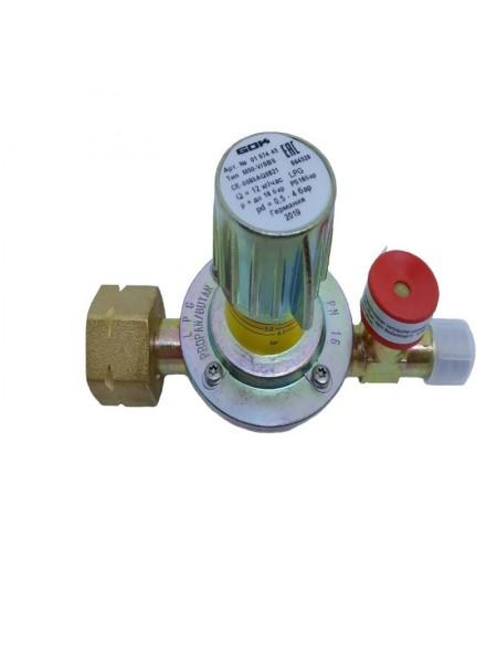Регулятор середнього тиску газу GOK M50-V/SBS 12кг/год 0,5-4бар Komb.A x G3/8LH-KN SBS шкала