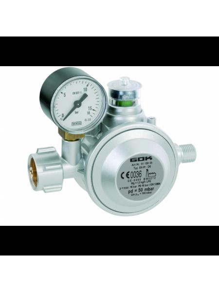 Газовий двухкамерний регулятор низького тиску GOK EN 61-DS 1,5 кг/час 50мбар KLF*G1/4LH-KN
